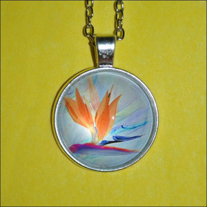 Jewelry - Water Color Painting Dome Necklace